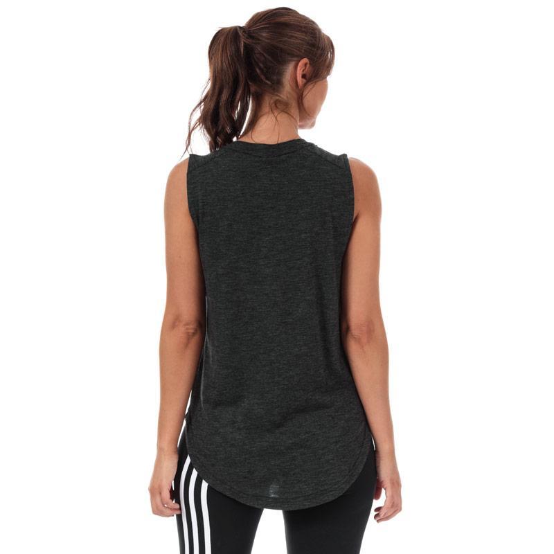 Adidas Womens ID Winners Muscle Tank Top Black-White
