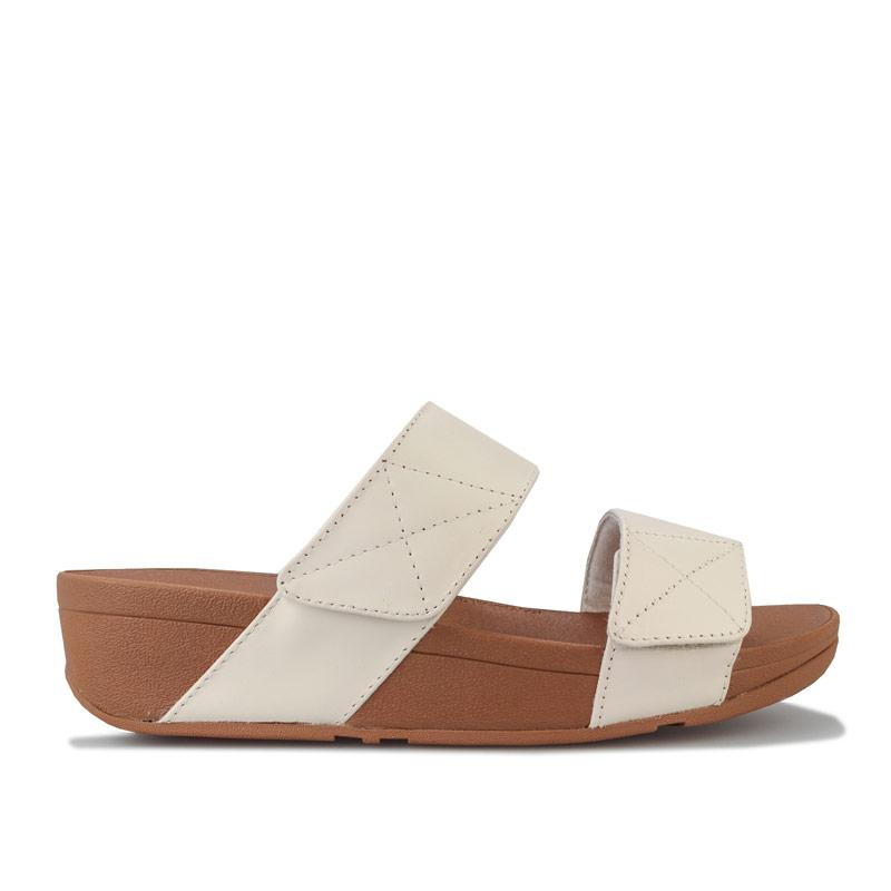 Boty Fit Flop Womens Mina Leather Slide Sandals Stone