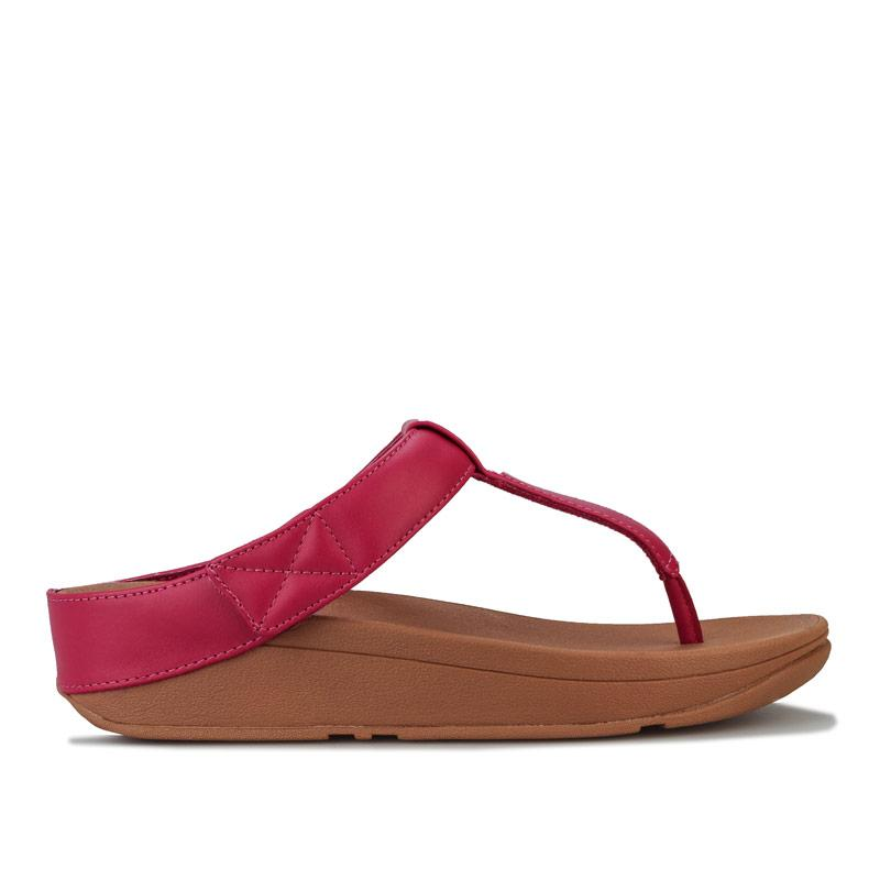 Boty Fit Flop Womens Mina Leather Toe Thong Sandals Pink