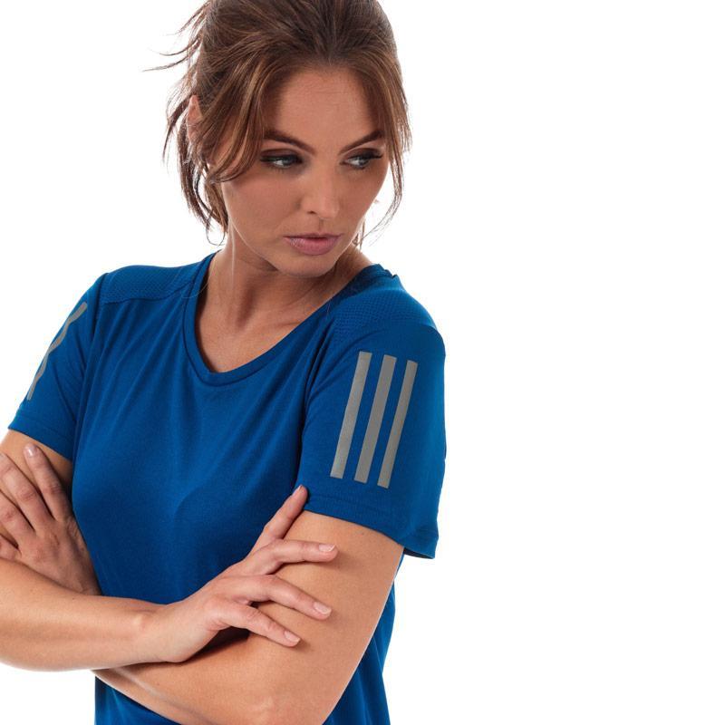 Adidas Womens Own The Run T-Shirt Royal Blue