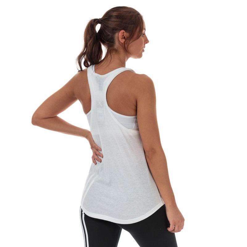 Adidas Womens Work In Progress Floral Essentials Tank Top White