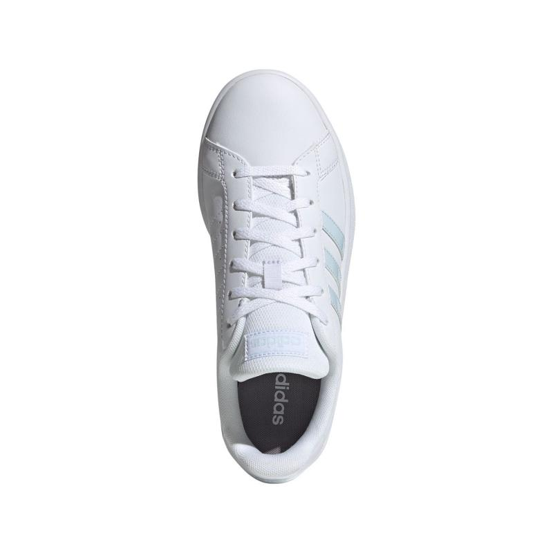 Adidas Grand Court Base Trainers Ladies White/LtBlue