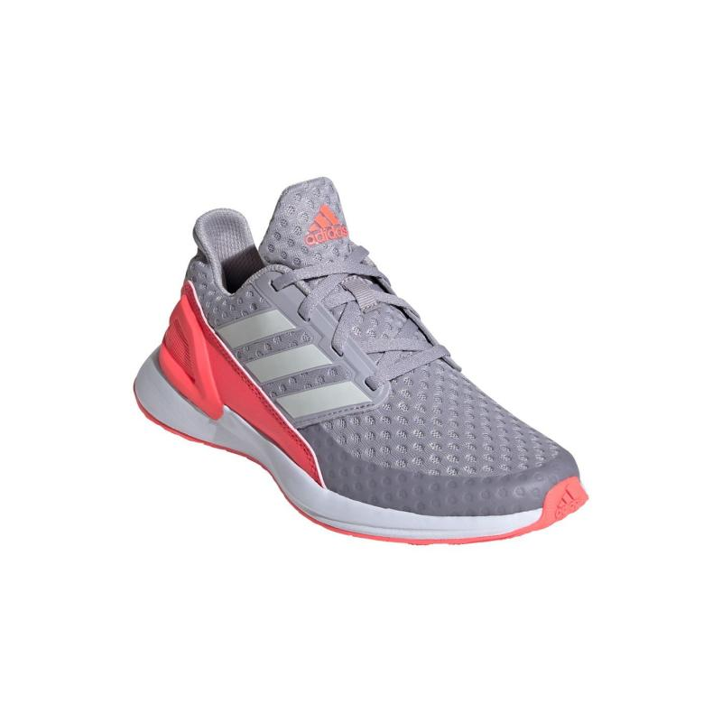Adidas Rapida Run Junior Girls Trainers LtGrey/Pink/Wht
