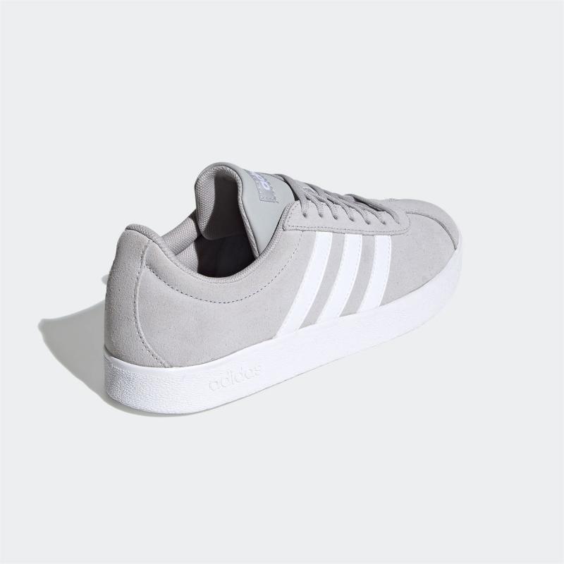Adidas VL Court Suede Womens Trainers LtGrey/Wht/Wht
