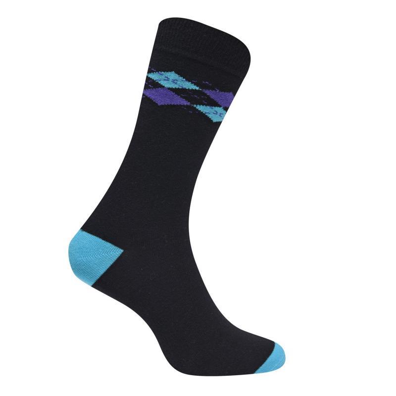 Ponožky Kangol Formal Sock 3 Pack Mens Argyle