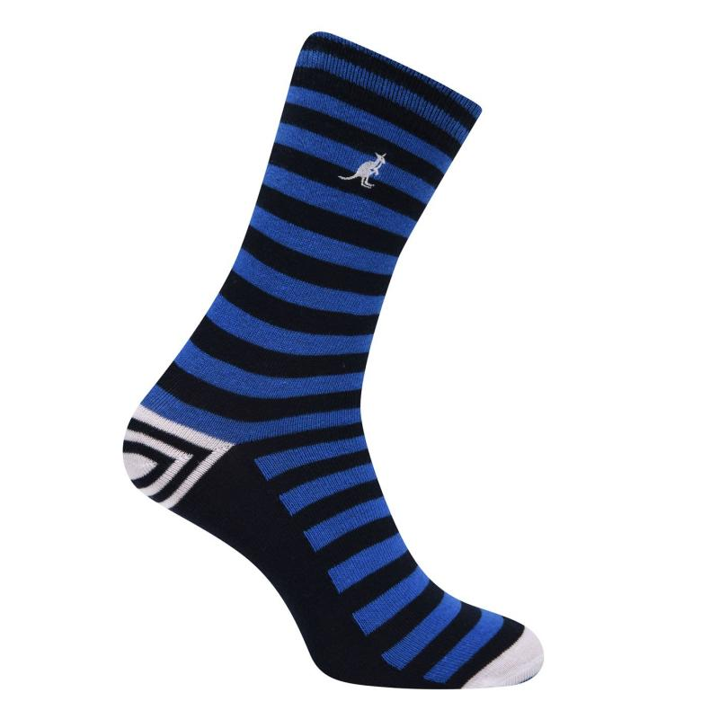 Ponožky Kangol Formal Socks 7 Pack Ladies Navy Pattern