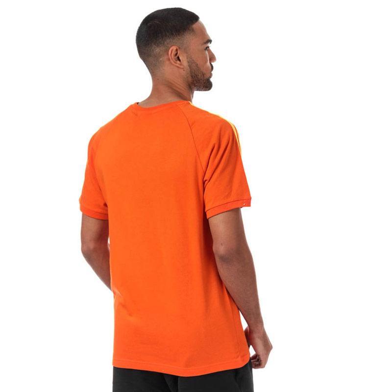 Tričko Adidas Originals Mens 3-Stripes T-Shirt Orange