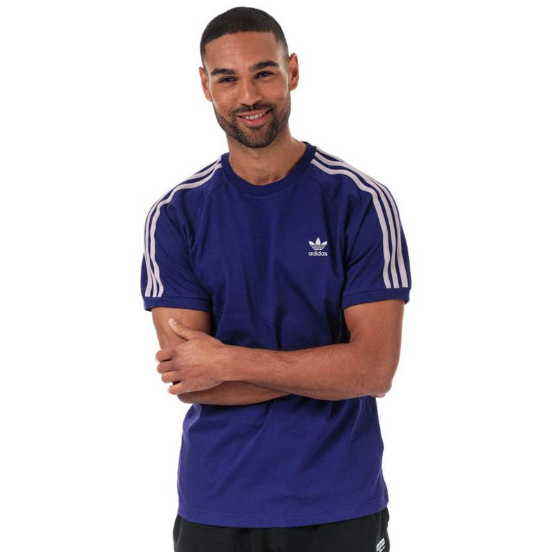 Tričko Adidas Originals Mens 3-Stripes T-Shirt Purple
