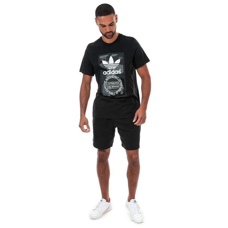 Tričko Adidas Originals Mens Camo T-Shirt Black