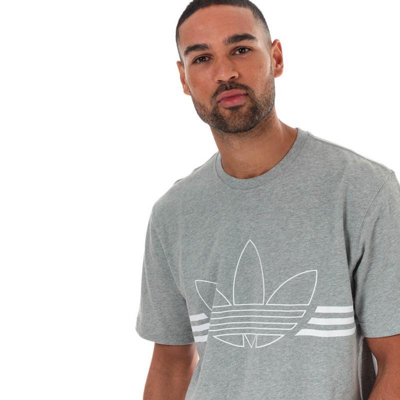 Tričko Adidas Originals Mens Outline Trefoil T-Shirt Grey