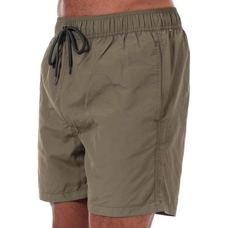 Ben Sherman Mens South Beach Swim Shorts Khaki