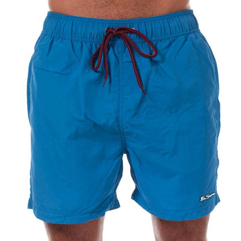 Ben Sherman Mens South Beach Swim Shorts Blue