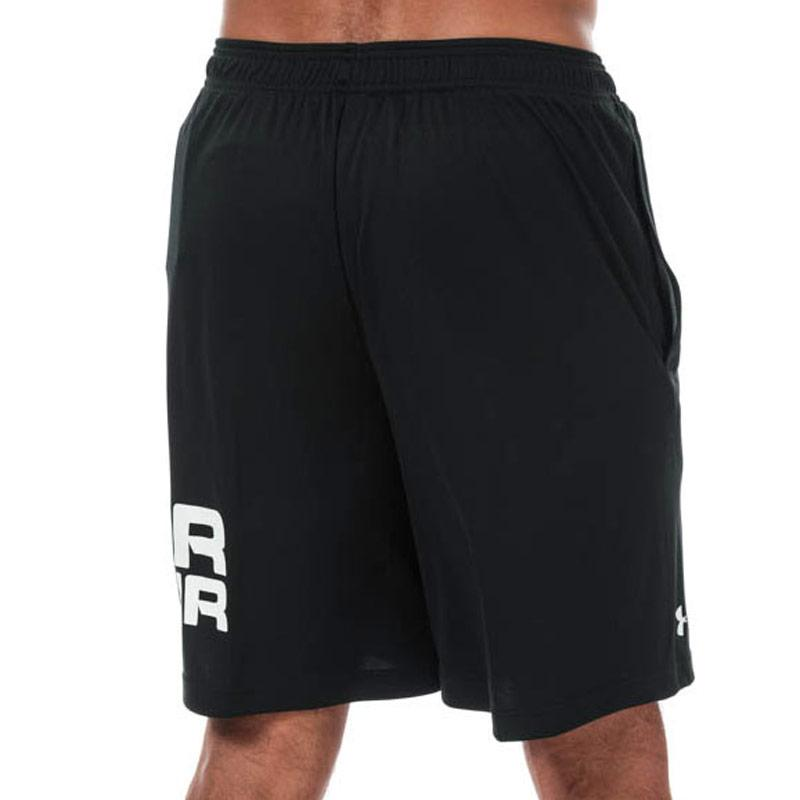 Under Armour Mens UA Tech Wordmark Shorts Black