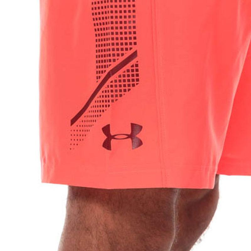 Under Armour Mens UA Woven Graphic Shorts Red