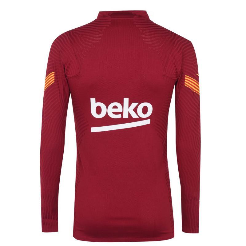 Nike VaporKnit FC Barcelona Strike Men's Soccer Drill Top NOBLE RED/NOBLE RED/AMARILLO/A