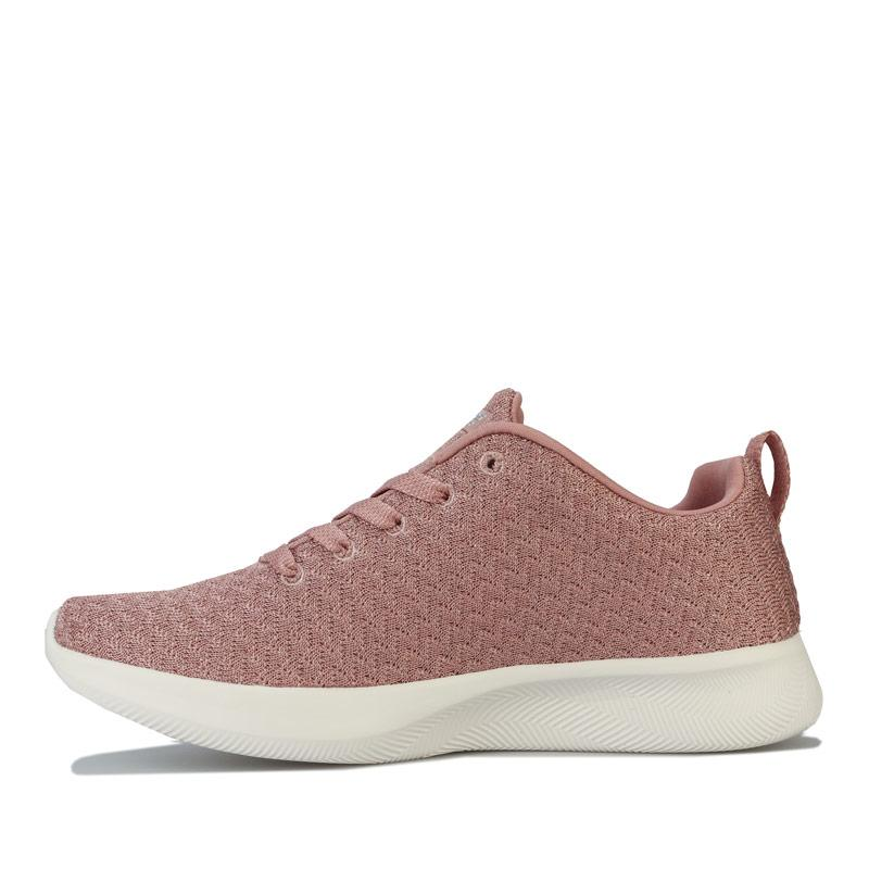 Skechers Womens BOBS Squad 2 Grand Jubilee Trainers Rose