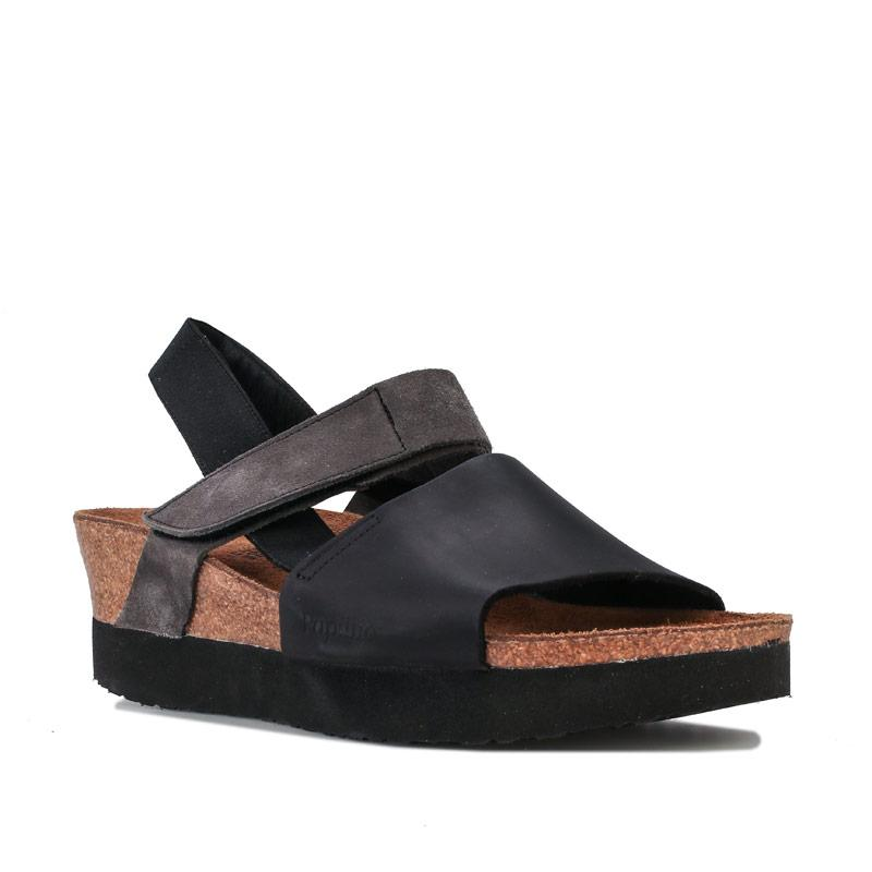 Boty Papillio Womens Linda Wedge Sandals Narrow Width Black
