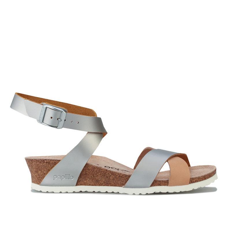 Boty Papillio Womens Lola Wedge Sandals Narrow Width Silver