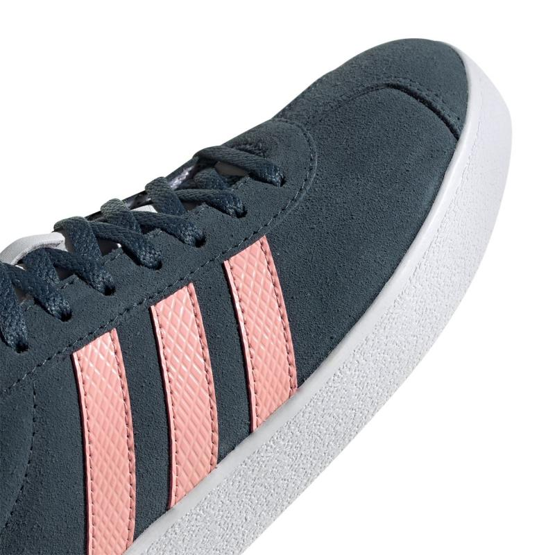 Adidas VL Court Suede Womens Trainers LegacyBlue/Pink