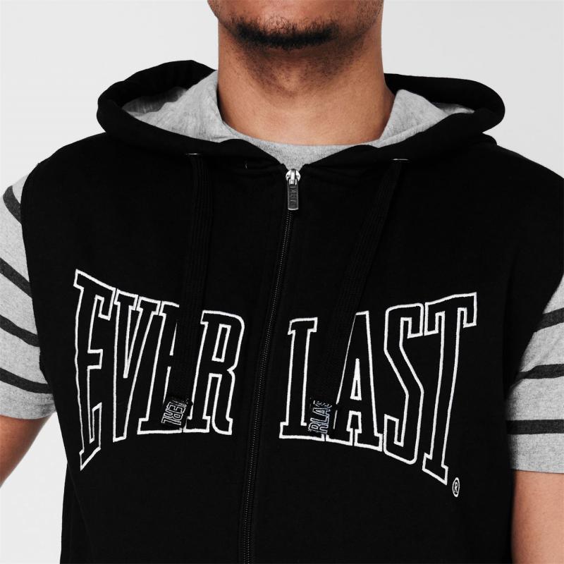 Mikina Everlast Thru Hoody Mens Black