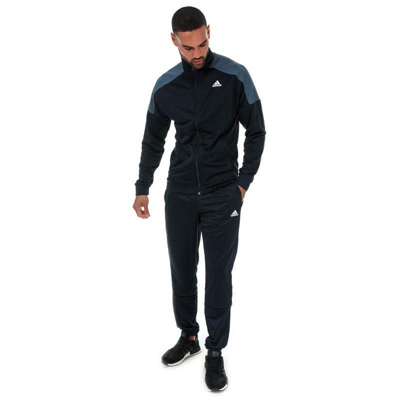 Adidas Mens Badge Of Sport Tracksuit Navy