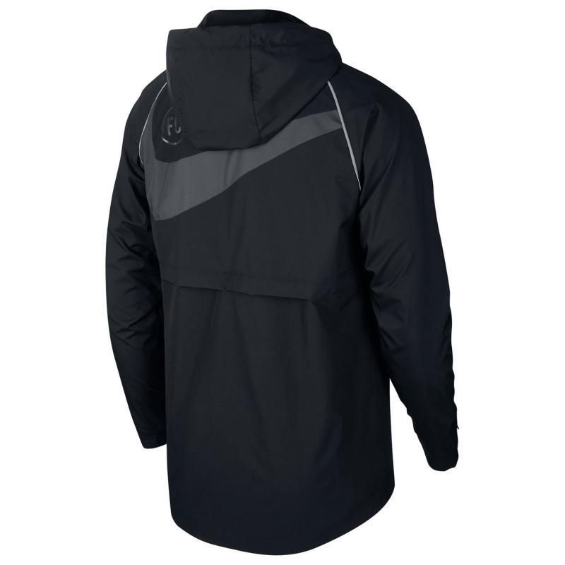 Nike AW Fan Football Jacket Mens Black/White