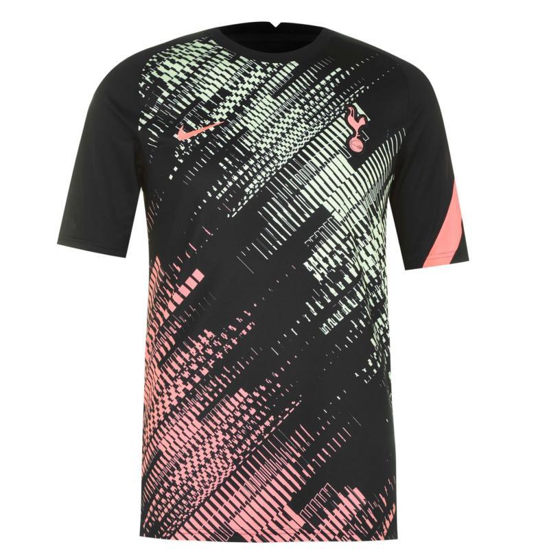 Nike Tottenham Hotspur Pre Match Shirt Mens BLACK/LAVA GLOW/LAVA GLOW