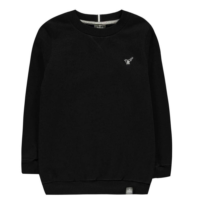 NUFC Sweatshirt Jn01 Black
