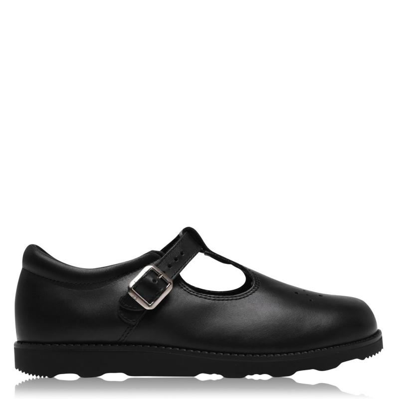 Rockport T Bar Girls Shoes Black