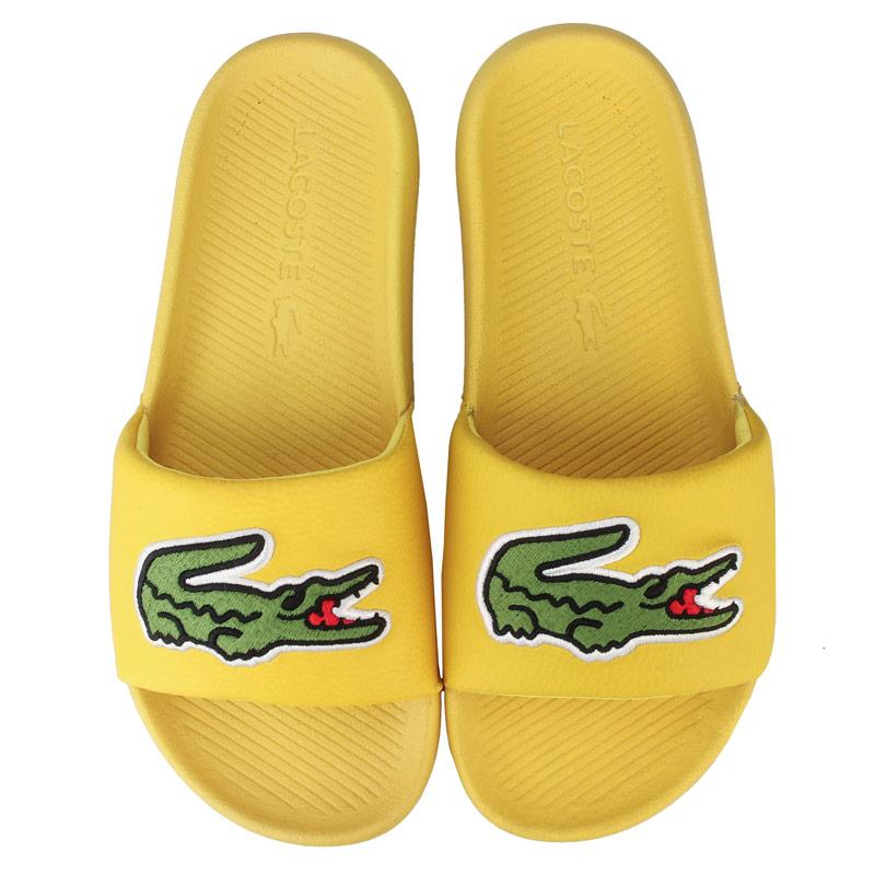 Boty Lacoste Womens 120 2 Croco Slide Yellow