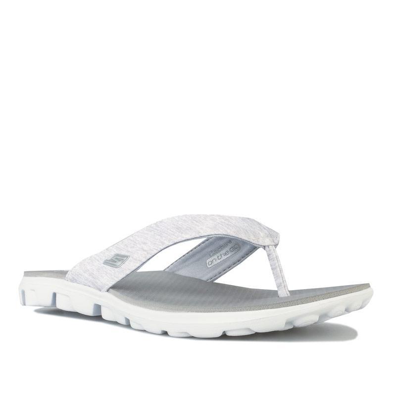 Boty Skechers Womens On The Go Flow Sandals Light Grey