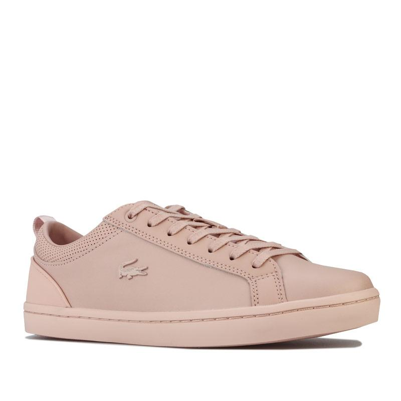 Lacoste Womens Straightset 120 1 Trainers Natural