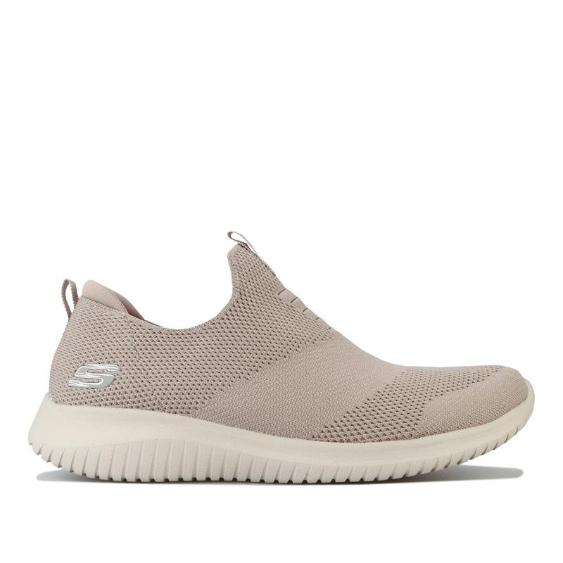 Skechers Womens Ultra Flex First Take Trainers Taupe