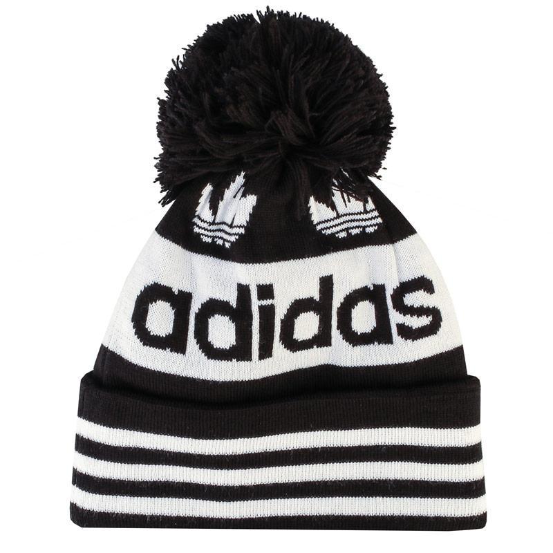 Adidas Originals Adicolor Pompom Beanie Black
