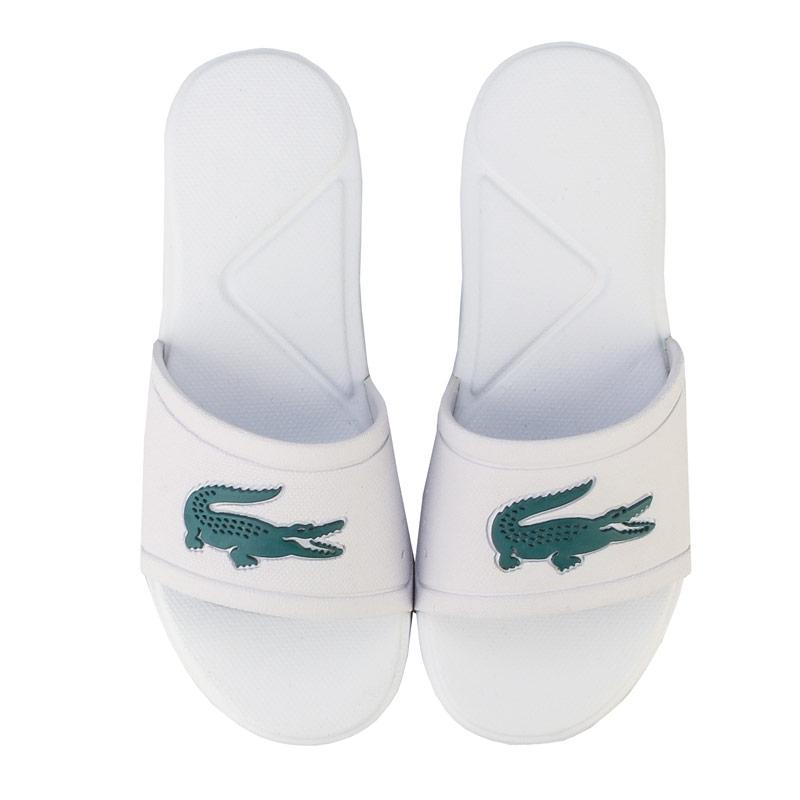 Boty Lacoste Children Boys L.30 Slide Sandal White Green