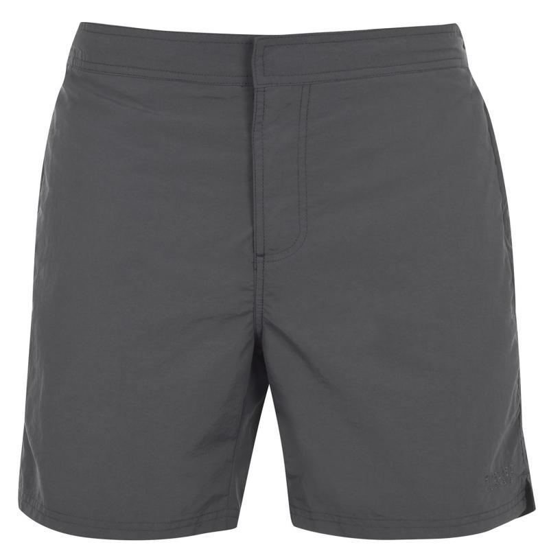 Plavky Firetrap Firetrap Blackseal Plain Swim Shorts Charcoal