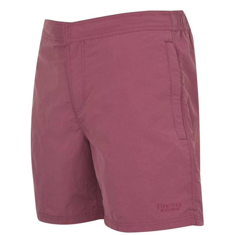 Plavky Firetrap Firetrap Blackseal Plain Swim Shorts Burgundy