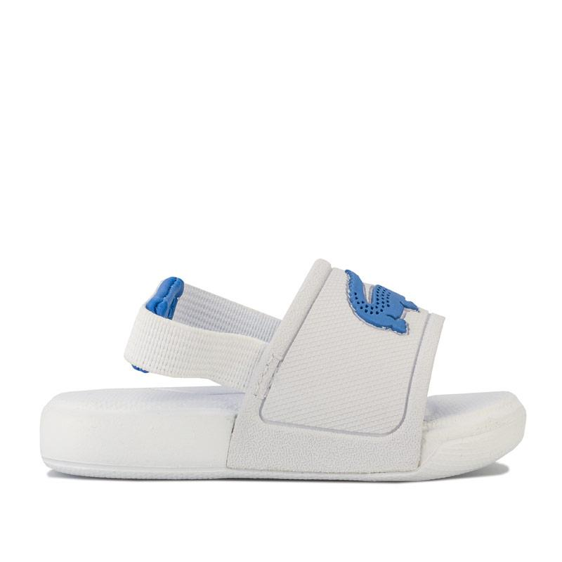 Boty Lacoste Infant Boys L.30 Strap Sandal White blue