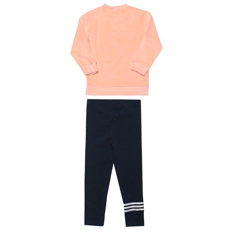 Adidas Infant Girls Velour Tracksuit Pink