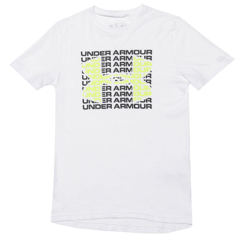Tričko Under Armour Junior Boys Wordmark T-Shirt White