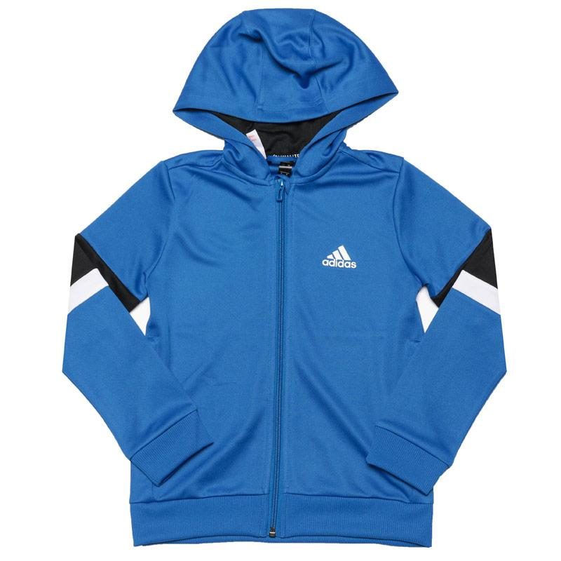 Mikina Adidas Junior Boys Zip Hoody Blue