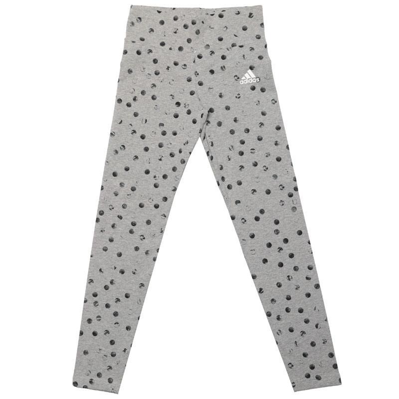 Adidas Junior Girls Must Haves Graphic Leggings Grey