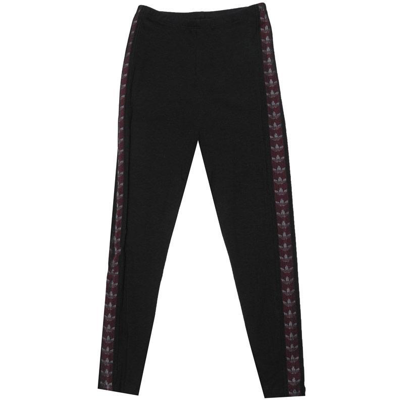 Adidas Originals Junior Girls Taped Leggings Black