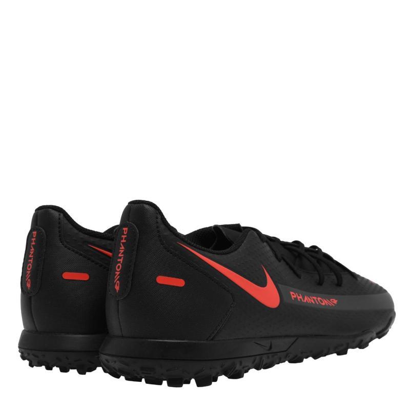 Nike Phantom GT Club Astro Turf Trainers BLACK/CHILE RED-DK SMOKE GREY