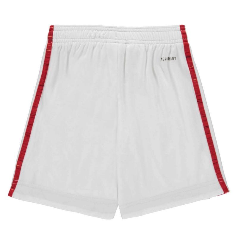 Adidas Manchester United Home Shorts 2020 2021 Junior White
