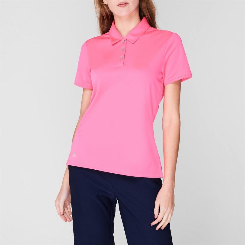 Polokošile adidas Short Sleeve Golf Polo Shirt Womens Solar Pink