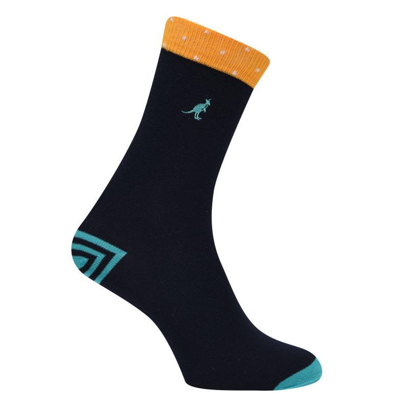 Ponožky Kangol Formal Socks 3 Pack Ladies Navy Pattern