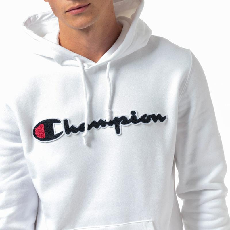 Mikina Champion Mens Large Logo Hoody White