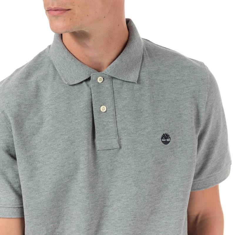 Timberland Mens Miller Rivers Polo Shirt Grey