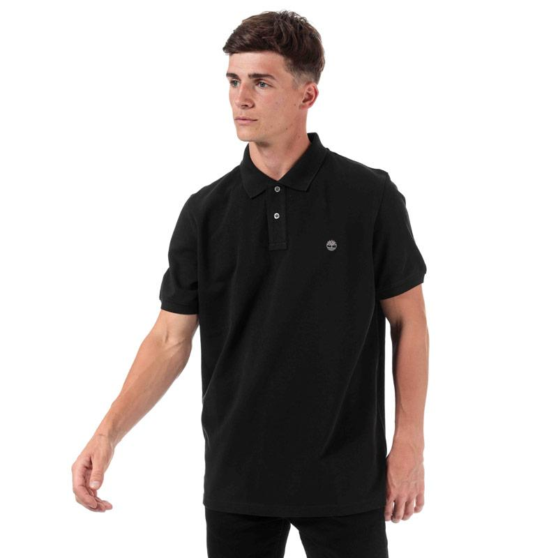 Timberland Mens Miller Rivers Polo Shirt Black